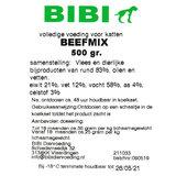 Bibi Beefmix  voor de kat, 500 gram_